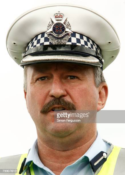 Police Inspector Jeff Forti speaks to media as police in the Australian state of Victoria conduct a chemical biological radiological hostage exercise...