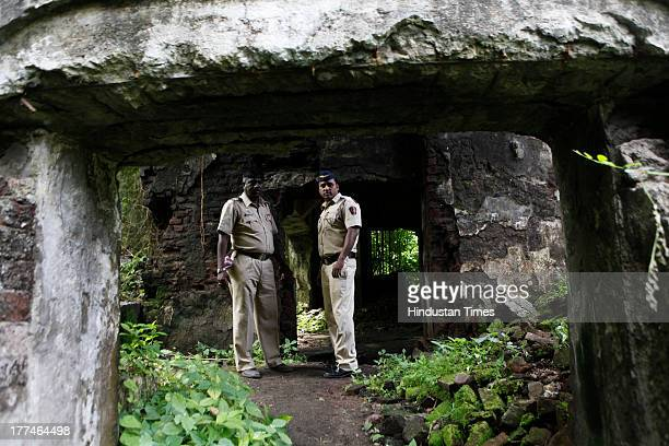 Police investigation at the spot of the recent gang rape incident in Shakti Mills Mahalaxmi on August 23 2013 in Mumbai India 22yearold...