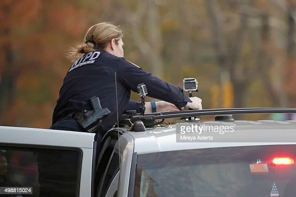 Police is present during the 89th Annual Macy's Thanksgiving Day Parade on November 26 2015 in New York City