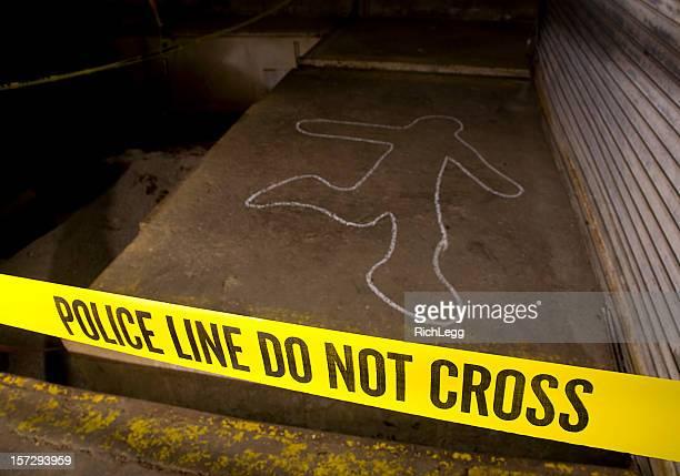 Verbrechen-Szene-Polizei-Linie