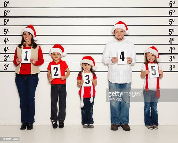 Police Line-Up of a Family at Christmas