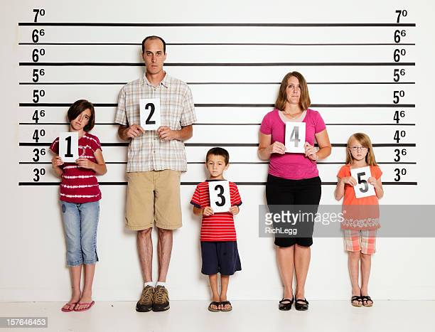 Police Line-Up of a Family