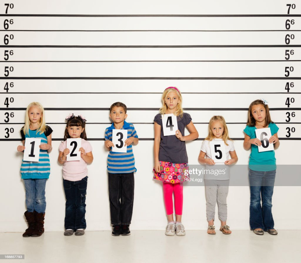 Police Line-Up of Six Children