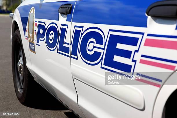 Logotipo de Carro de Polícia e Riscas