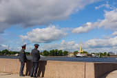 Police looking at Peter and Paul Fortress
