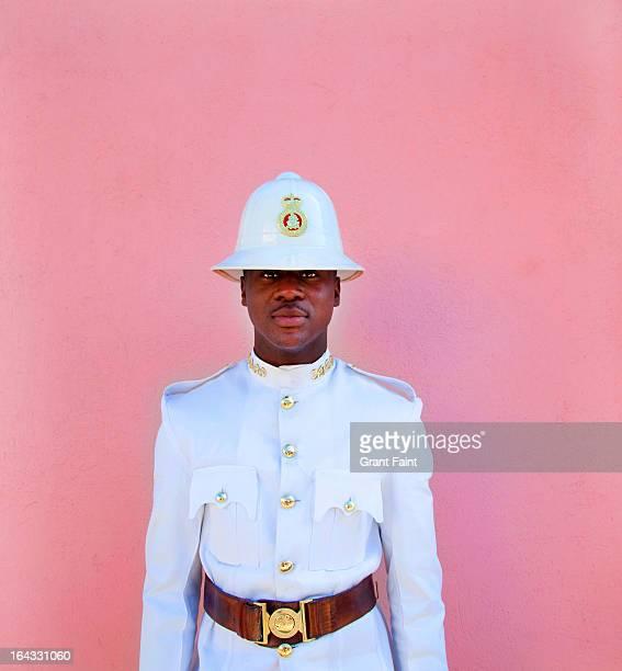 Police man posing.