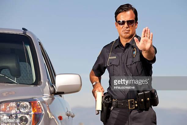Polizist Gestikulieren Halt