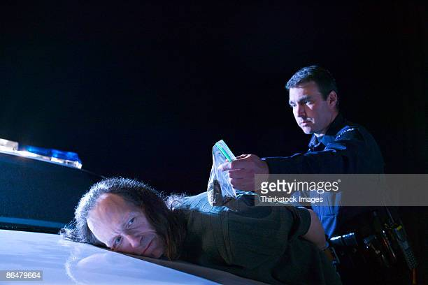 Police officer making arrest