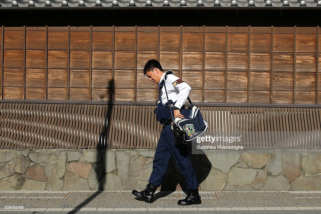 Police officer seen before the G7 Ise-shima summit on May 5, 2016 in Ise, Japan. The G7 summit will be held in Ise-Shima, Mie prefecture on May 26 and 27, 2016.