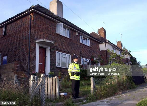 A police officer stands outside the home of Summer Haipule in Bolney Road Brighton East Sussex The sixyearold girl is believed to have been snatched...
