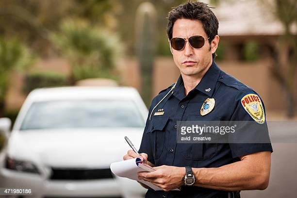 Police Officer Writing Traffic Citation