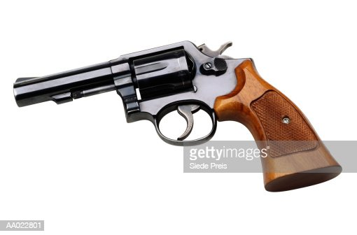 Police Officer's .357 Magnum Revolver : Stock Photo