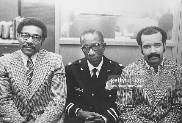 Police officers at Baltimore City Jail during the aftermath of a riot Baltimore Maryland March 3 1973