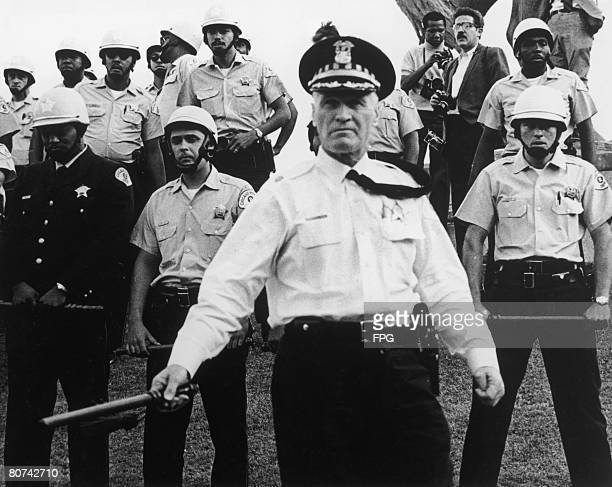 Police officers at the Democratic National Convention in Chicago August 1968