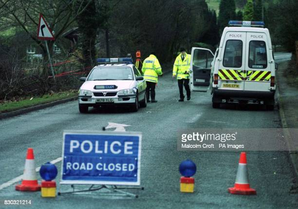 Police officers at the scene of a road accident outside Macclesfield Cheshire in which 3 people died and 1 was left seriously injured One of the...