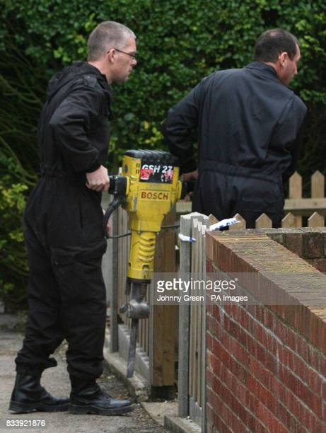 Police officers continue to carry out searches at a house in Margate Kent where the remains of a second body were found yesterday