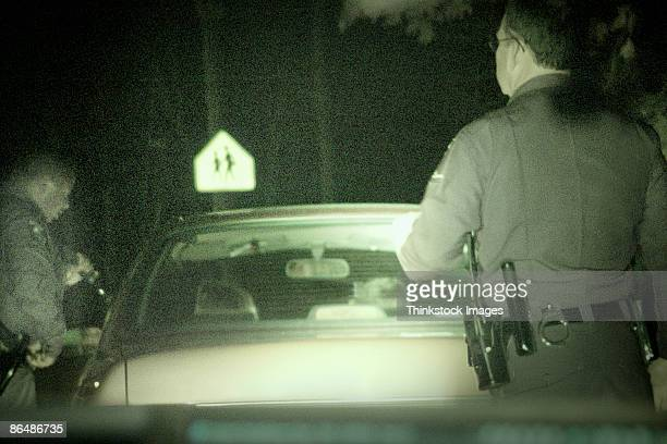 Police officers during traffic stop