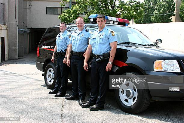Polizisten Ganzkörper Lächeln