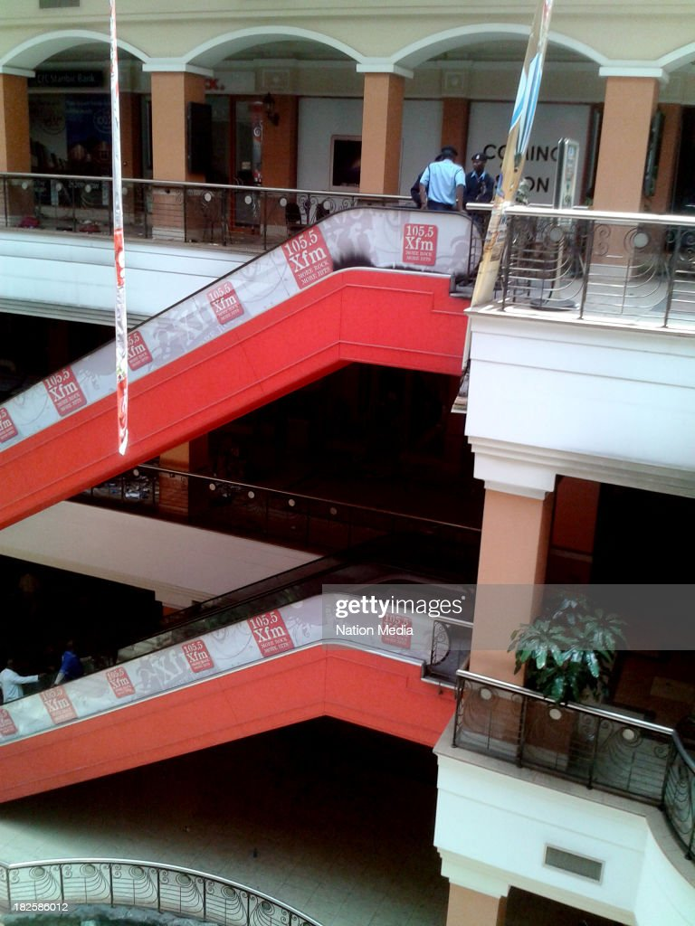Not for sale to The Star Capital FM The People Citizen TV Kenya Broadcasting Corporation Police officers inside Westgate mall on September 30 2013 in...