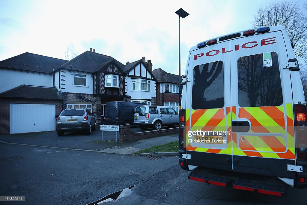 Police officers leave the house belonging to Moazzam Begg in Hall Green on February 25 in Birmingham England Former Guantanamo Bay detainee Moazzam...