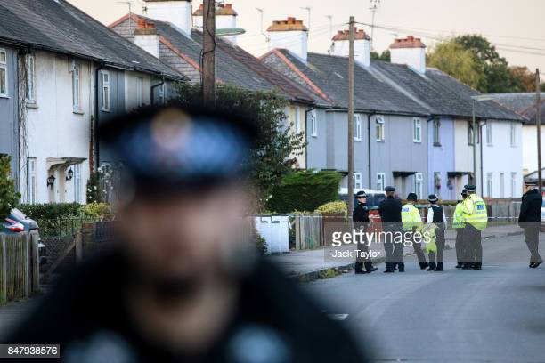 Police officers on the scene at Cavendish Road during a raid on an address in connection with the terror attack at Parsons Green station on September...
