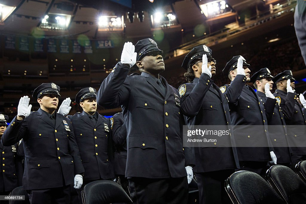 Bill de blasio addresses nypd graduates at ceremony at - Garden city police department ny ...
