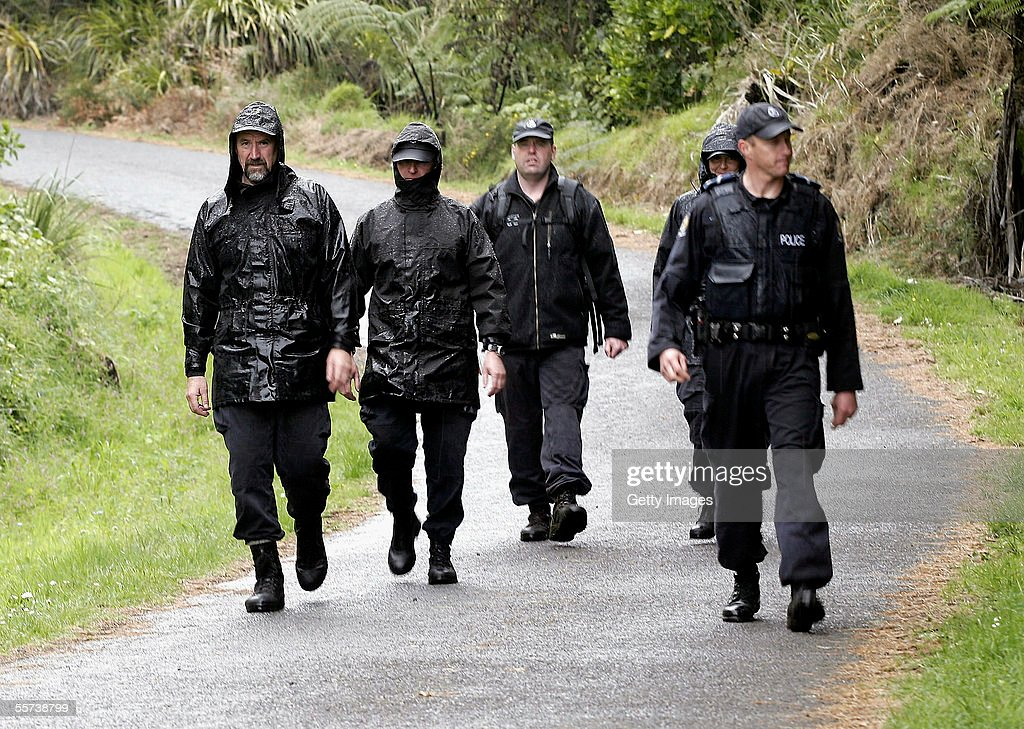 Police Officers return to their base after continuing to search for clues into the murder of a German hitchiker whose body was found 30 meters from...