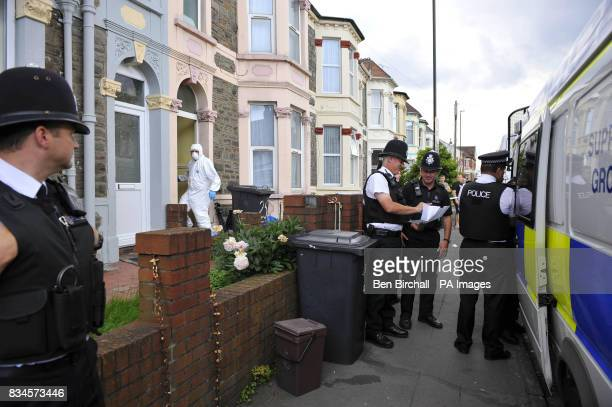 Police officers search a property in Belle Vue Road Easton Bristol after a 19yearold man was arrested under the Terrorism Act in the city