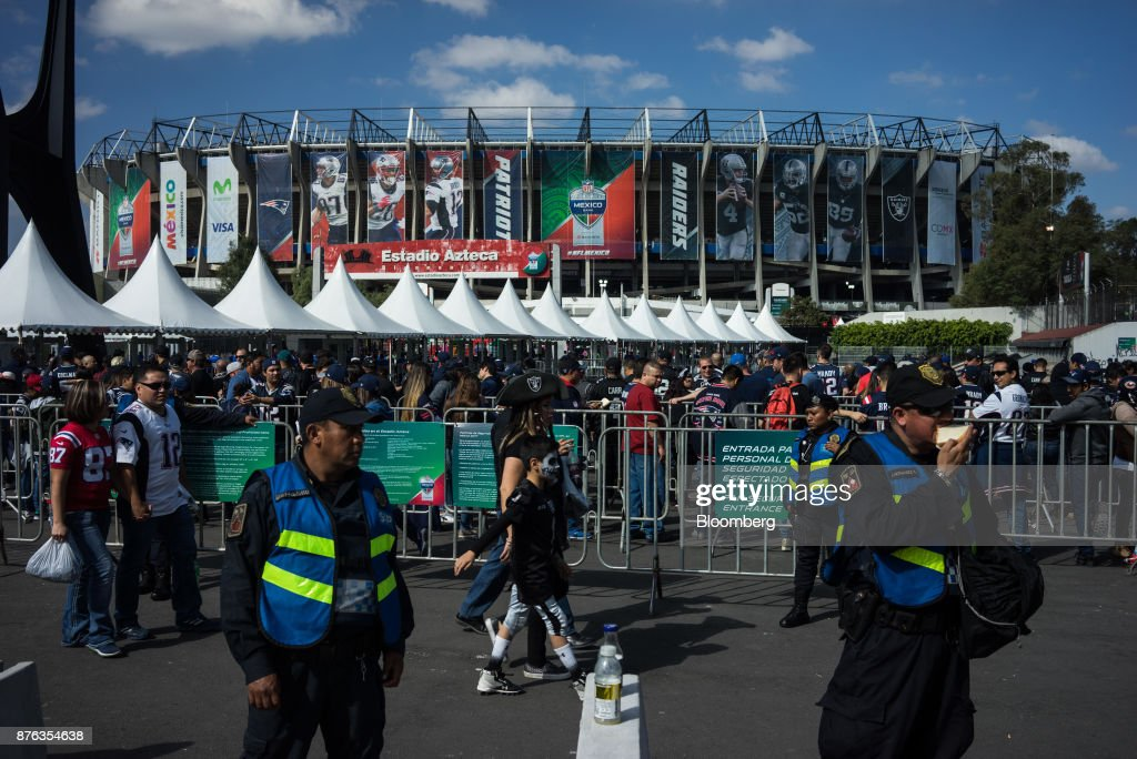 New England Patriots And Oakland Raiders Play At Estadio Azteca As NFL Generates Millions