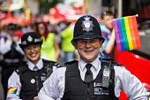Police officers take part in the annual Pride in London Parade on June 27 2015 in London England Pride in London is one of the world's biggest LGBT...