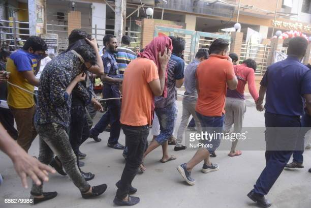 Police on 20 May 2017 take four suspected members of LGBT community in Dhaka A Dhaka court on Saturday placed four suspected members of LGBT...