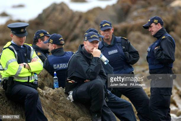 Police on site as activists gather at Glengad Beach in CoMayo as the pipe laying vessel the Solitaire makes its way into Broadhaven Bay A massive...