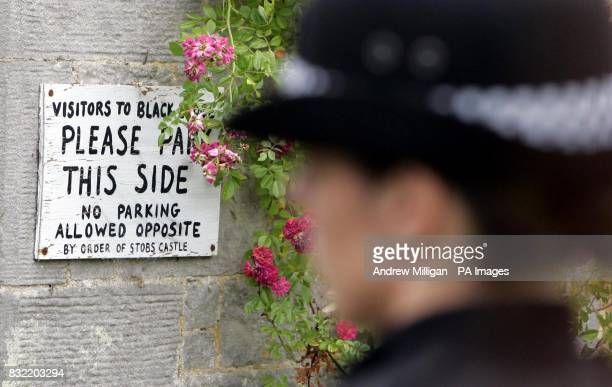 Police outside Black Lodge in the Scottish Borders where Christopher 'Pascal' Norris who is believed to have died of anthrax lived alone The house...