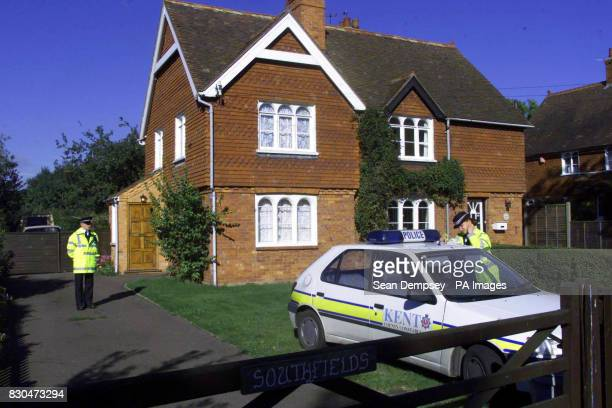 Police outside the home of Alan Decabral in Pluckley Kent Decabral a key witness who helped put M25 road rage killer Kenneth Noye behind bars was...