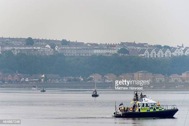 Police patrol Cardiff Bay on September 5 2014 in Cardiff Wales Today is the final day of the two day NATO summit which has brought world leaders...