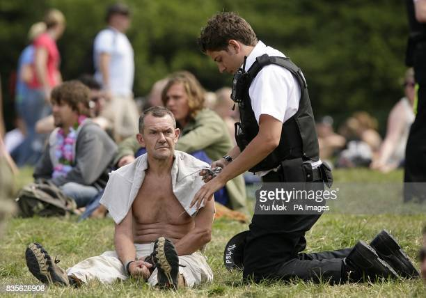 Police presence at the 2009 Glastonbury Festival at Worthy Farm in Pilton Somerset