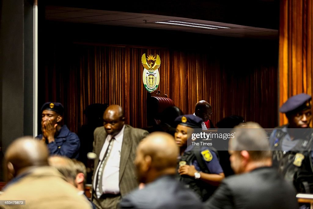 Police presence inside the Palm Ridge Magistrate's Court on December 2, 2013, in Johannesburg, South Africa. Czech bunsinessman, Radovan Krejcir, is allegedly the head of an international drug-smuggling syndicate. He is also accused of kidnapping and assault.