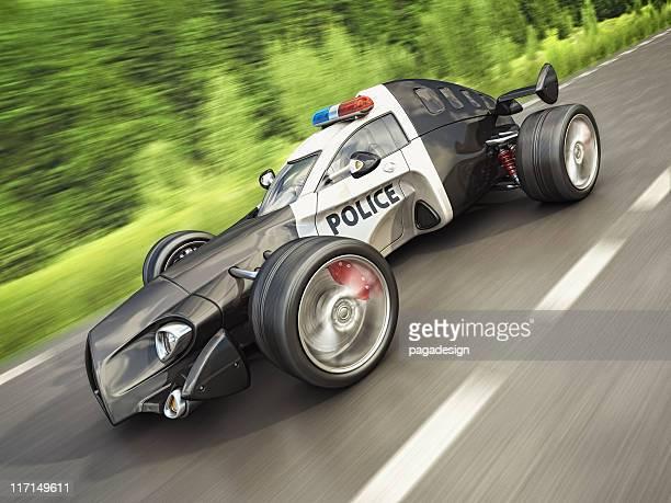 police race car