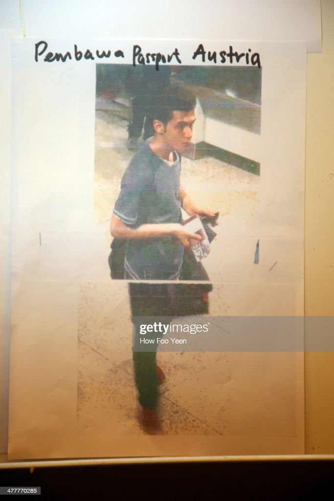 Police release cctv imagery of an Iranian suspect, Pouria Nour Mohammad Mehrdad, who was travelling on Flight MH370 with a stolen Austrian passport, on March 11, 2014 in Kuala Lumpur, Malaysia. Officials have expanded the search area for missing Malaysia Airlines flight MH370 to include more of the Gulf of Thailand between Malayisa and Vietnam and land along the Malay Pensinusula. The flight carrying 239 passengers from Kuala Lumpur to Thailand was reported missing on the morning of March 8 after the crew failed to check in as scheduled. Relatives of the missing passengers have been advised to prepare for the worst as authorities focus on two passengers on board travelling with stolen passports.