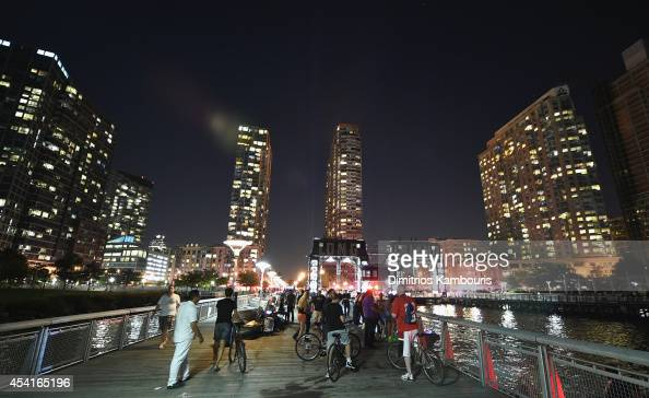 Police rescue multiple people from The East River on August 25 2014 in Long Island City New York