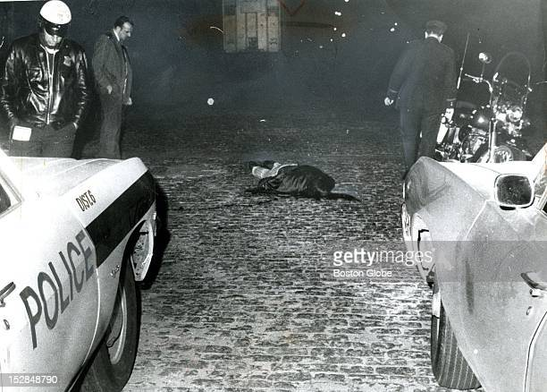 Police respond to a shooting in South Boston as a victim lies on the ground Oct 27 1971 / / / MOBSTER