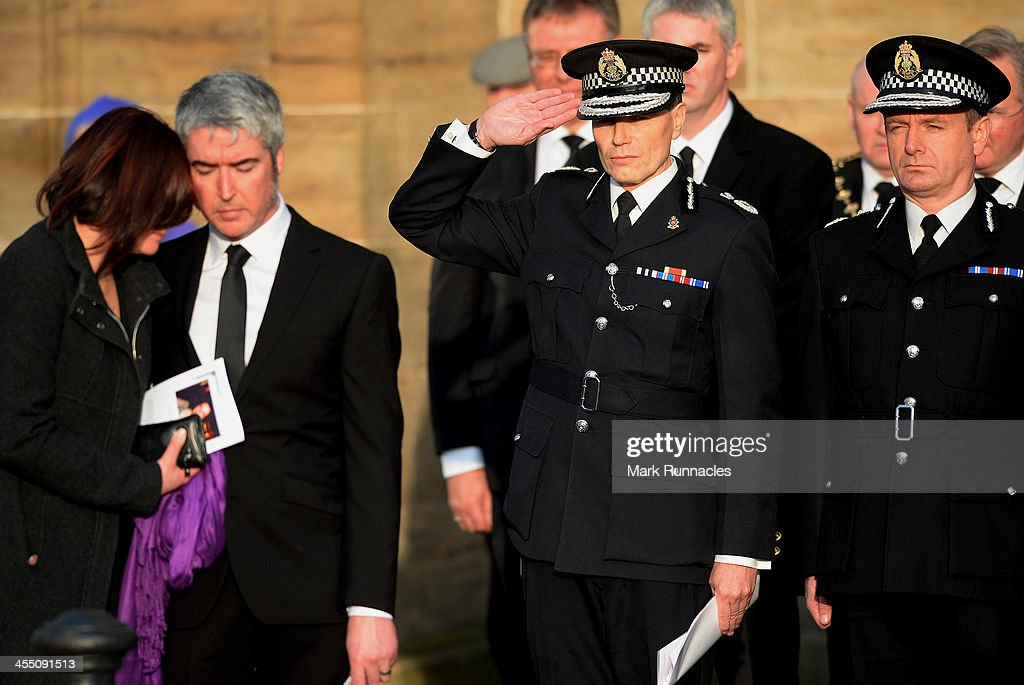 Police Scotland Chief Constable Sir Stephen House attends the funeral service at St Andrews Cathedral for PC Kirsty Nelis who was killed in the...