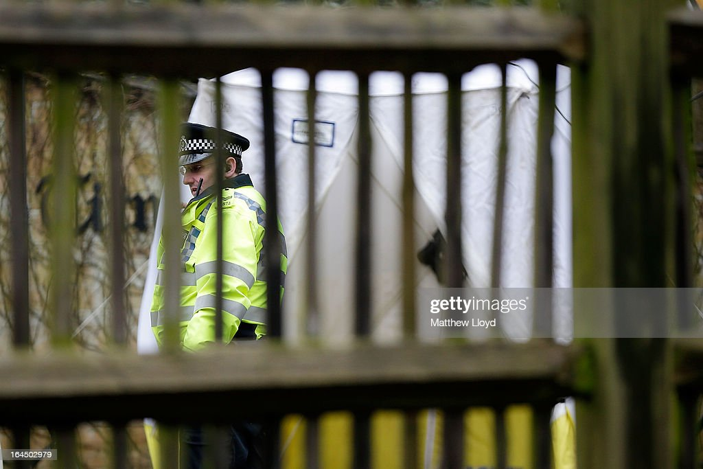 Police seal off the front gates of the home of Russian oligarch Boris Berezovsky after he was found dead on March 24, 2013 in Sunningdale, England. Specialist police teams skilled in biological, nuclear and chemical materials have been called in to search the property and investigate the cause of death which they have reported as unexplained. Berezovsky, aged 67, emigrated to the United Kingdom in 2000 and achieved political asylum three years later on the grounds that his life would be in danger should he return to Russia.