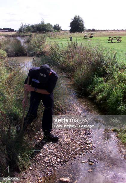 RAF Police search team from RAF Wyton and Bramton Cambridgeshire search on Fen Common in Soham and the outskirts of Soham for two missing 10yearold...
