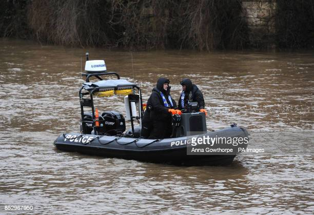 Police search the River Ouse in York as they look for missing student Megan Roberts who was last seen at around 2am on Thursday morning at the...