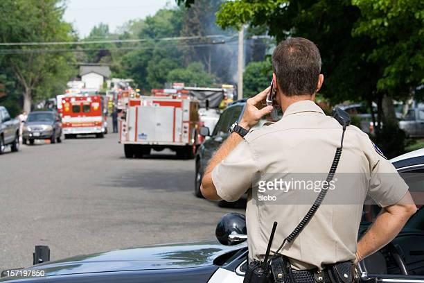 Policía la protección de perímetro