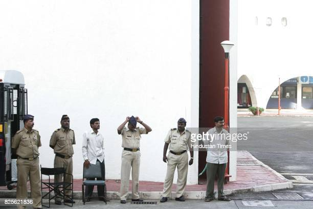 Police security was beefed up at the world trade centre mumbai after teh authorities received an anonymous letter saying that they would blow up the...
