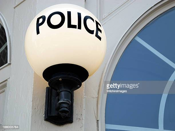 Police Sign: Old-Style Light Globe