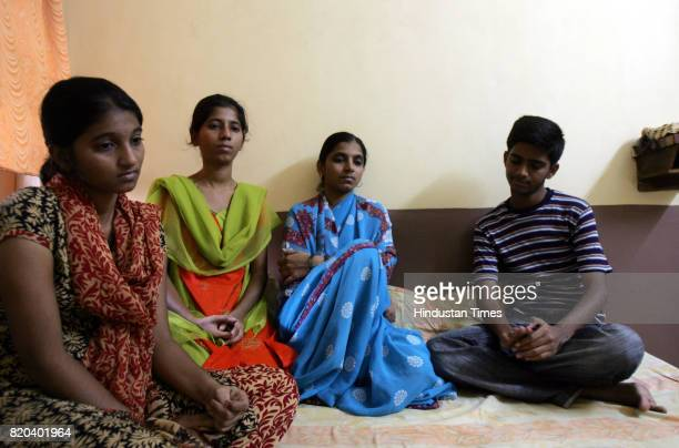 Police Sub Inspector Baburao Dhurgudes family wife Aruna daughters Poonam and Neelam and son Vishal