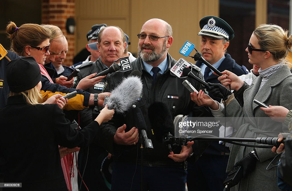 Police superintendent Anthony McWhirter talks to media outside the Blue Mountains Hospital on July 15, 2009 in Katoomba, Australia. Missing backpacker Jamie Neale was found earlier today after surviving 12 days lost in the bush near Katoomba suffering from only dehydration and exposure.